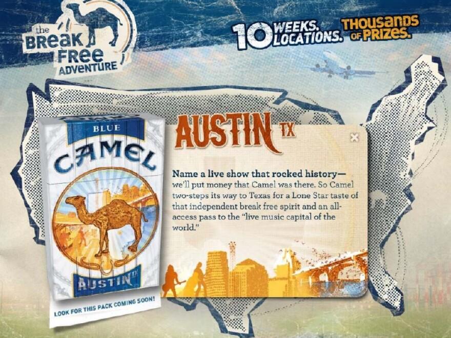 Austin Camel Cigarettes