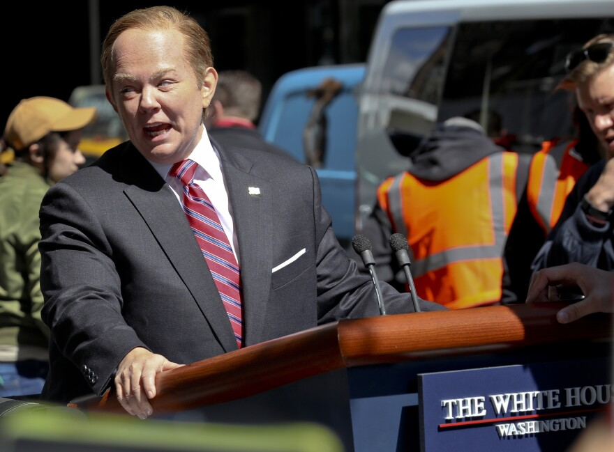 <em>Saturday Night Live</em> was nominated for 22 Emmy Awards. Here, Melissa McCarthy portrays White House spokesman Sean Spicer in a special segment taped in May.