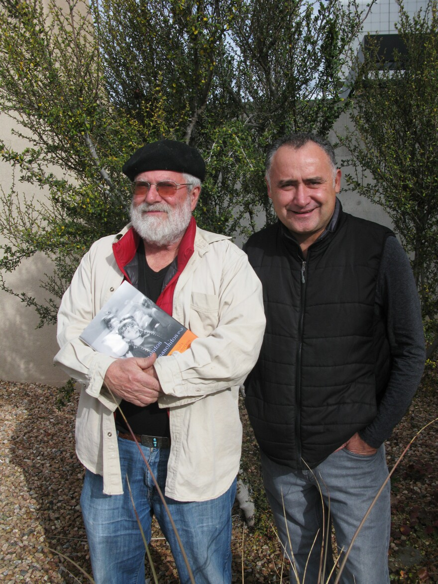 Enrique Lamadrid (left) and Moises Gonzales, professors at the University of New Mexico, are co-editing the forthcoming book <em>Genizaro Nation</em>.
