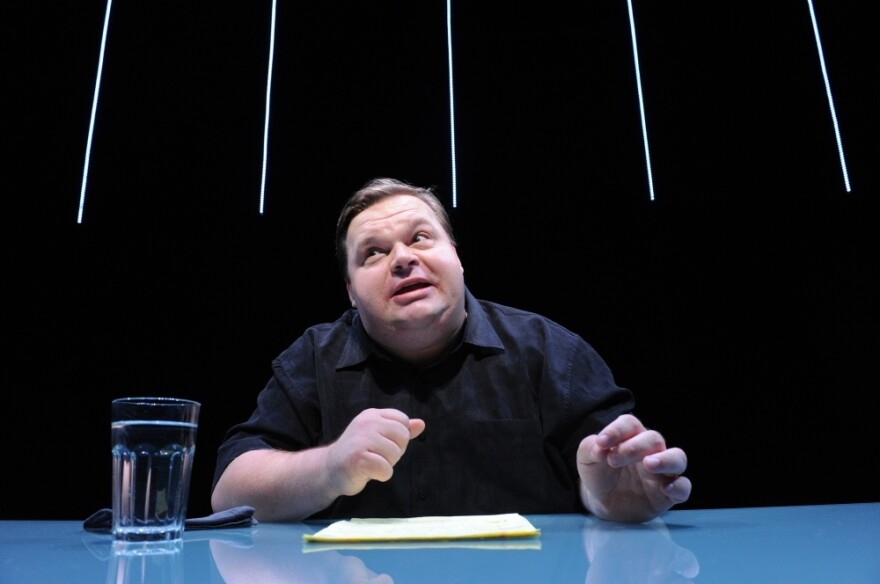 """Mike Daisey in a scene from """"The Agony and The Ecstasy of Steve Jobs."""""""