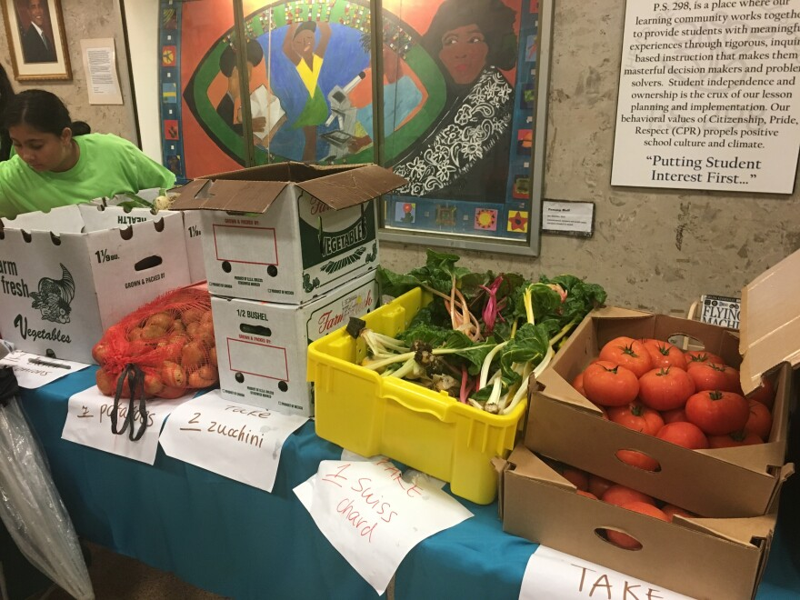In June, youths at Brownsville Collaborative Middle School, in Brooklyn, started to provide discounted boxes of fresh produce, grown in a student-built hydroponic farm in a classroom, to community members.