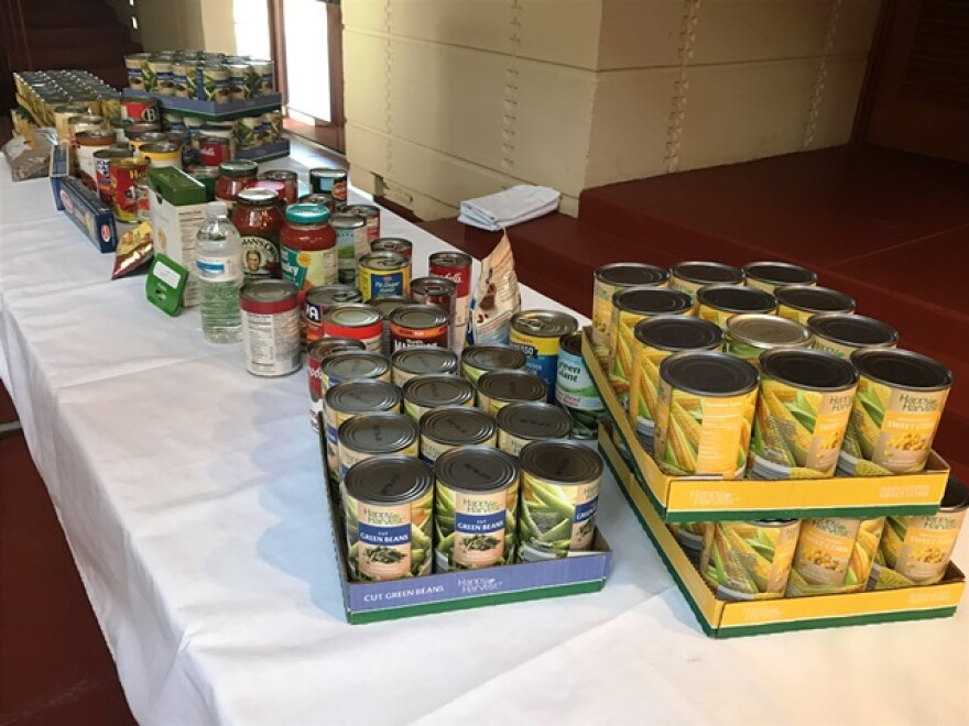 Many guests generously donated food at the Florida Matters town hall, which was passed on to local charities.