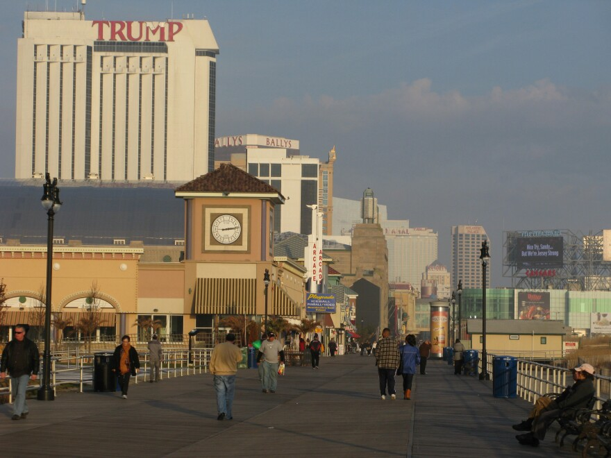 Atlantic City's boardwalk, with its shops, restaurants, casinos and hotels, was mostly protected during Hurricane Sandy by a dune restoration project. But TV images of one small section that was damaged gave the impression that the whole thing was destroyed.