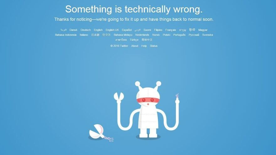 Twitter's Support and other services were unavailable early Tuesday.