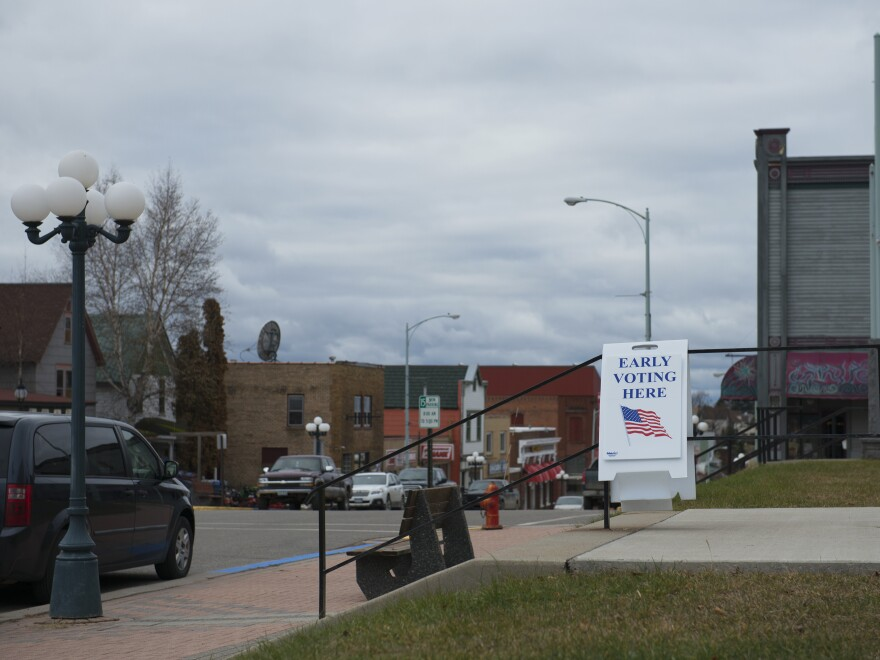 A polling place in Ely, Minn.