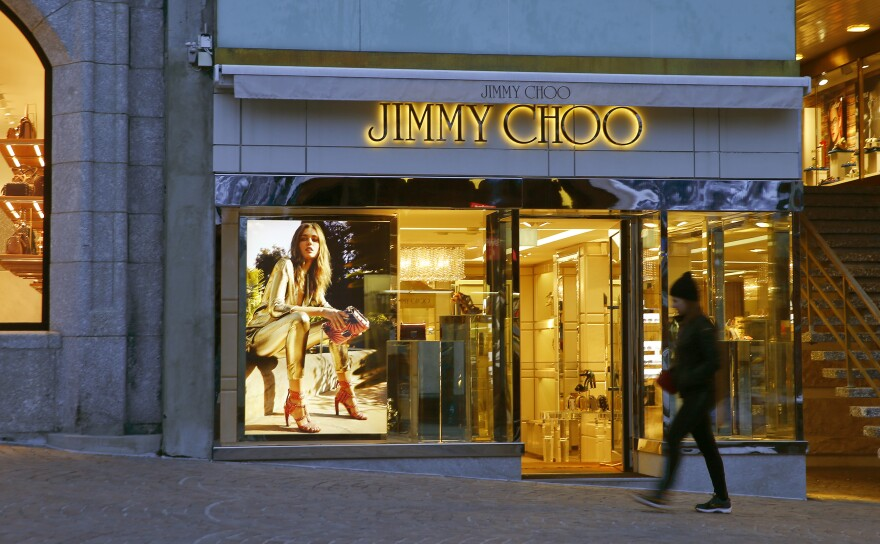 The geographic diversity of shoe designer Jimmy Choo locations was among the selling points for Michael Kors.