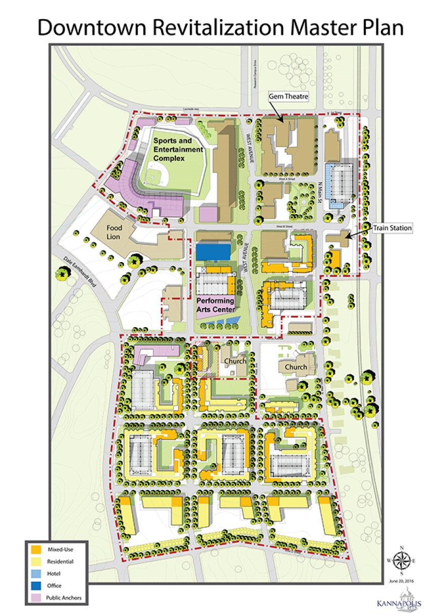 The city and private developers are partnering to remake downtown Kannapolis.