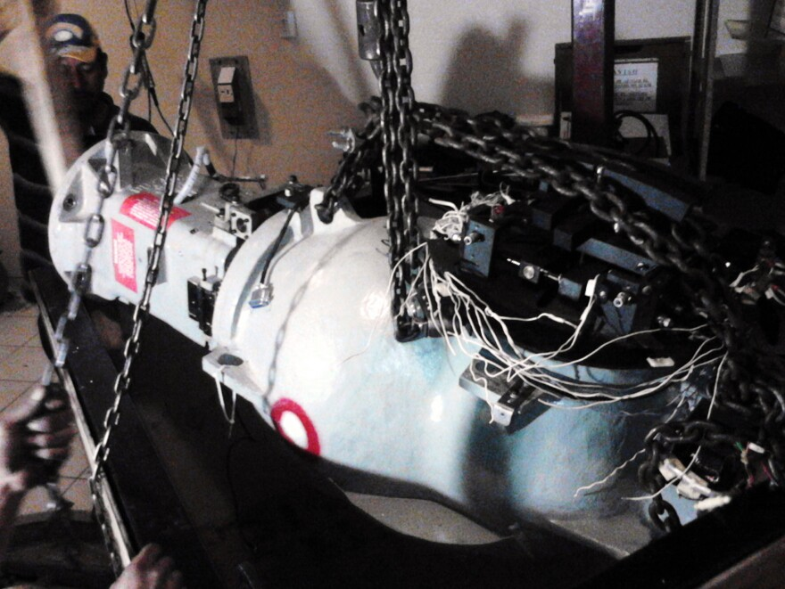 A photo released by Mexico's nuclear safety agency shows medical equipment containing radioactive source material. The photo was taken as the equipment was being prepared for loading into a truck, which was later stolen.