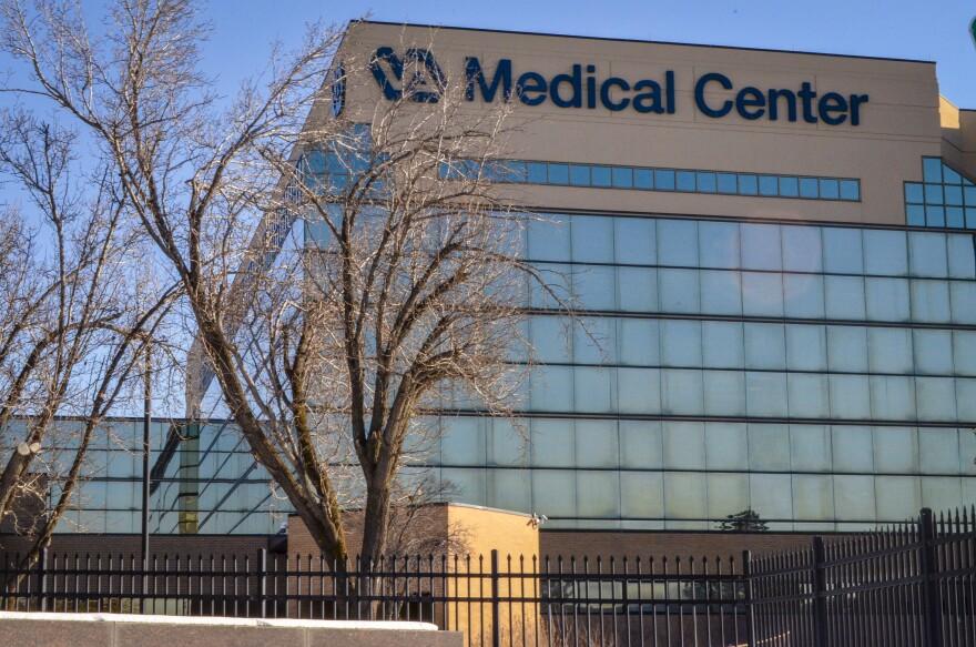 A photo of the VA medical center building.