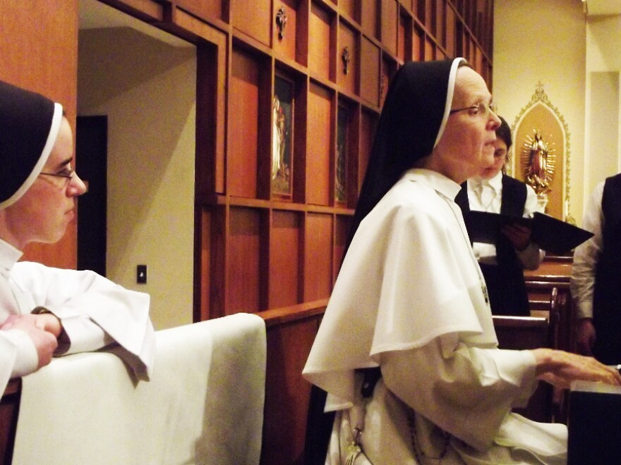 Sister Joseph Andrew Bogdanowicz (right), vicaress general and music director for Dominican Sisters of Mary. On the group's new album, she plays organ and composed three selections.