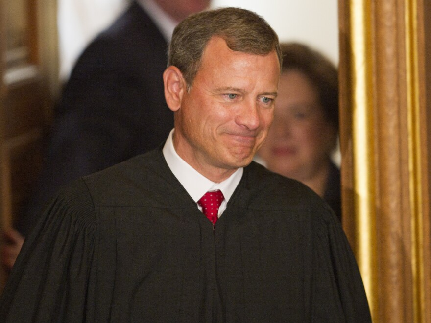 Critics say U.S. Supreme Court Chief Justice John Roberts, shown in 2010, backtracked on previous pledges to give high priority to precedent in the <em>Citizens United</em> campaign finance case.