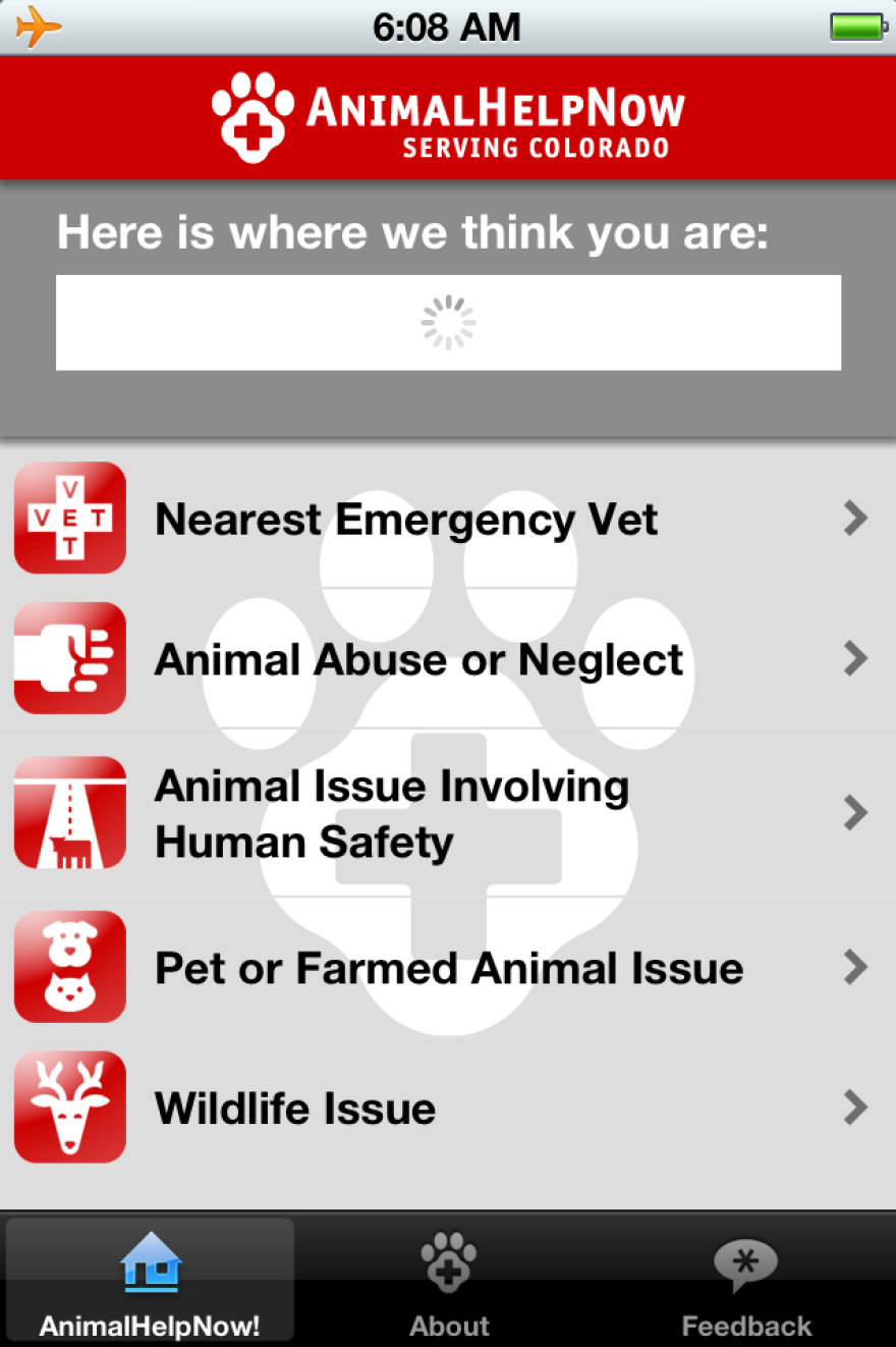 The AnimalHelpNow app currently works only in Colorado, but there are plans to expand the project nationally.