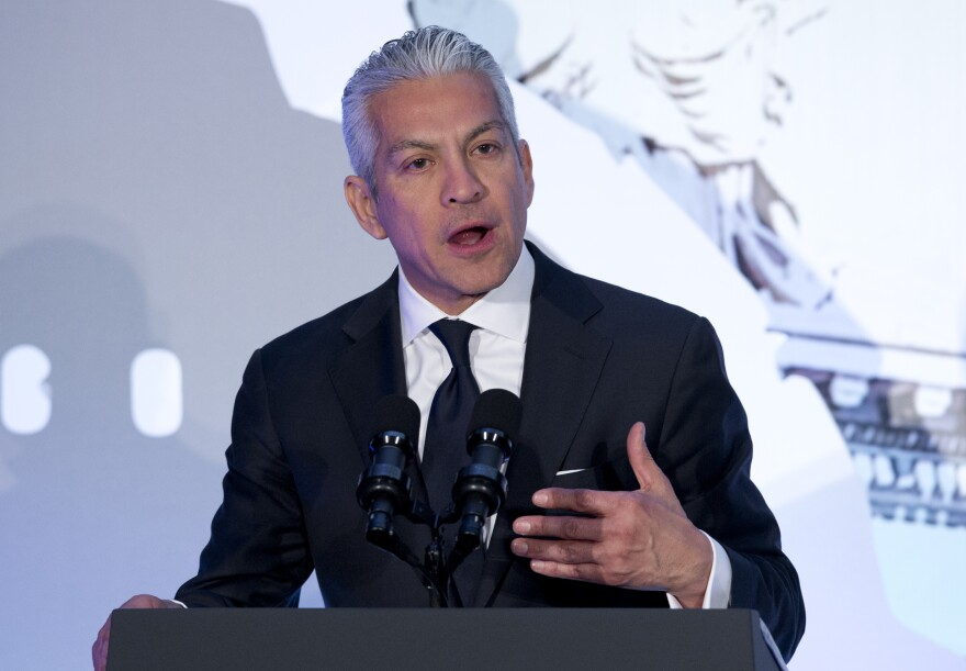 Javier Palomarez, shown here at an event in 2014, resigned amid allegations of sexual and financial misconduct.