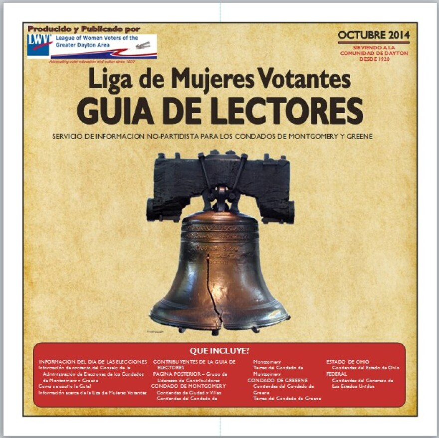 The cover of the first Spanish language voter guide from the Greater Dayton League of Women Voters