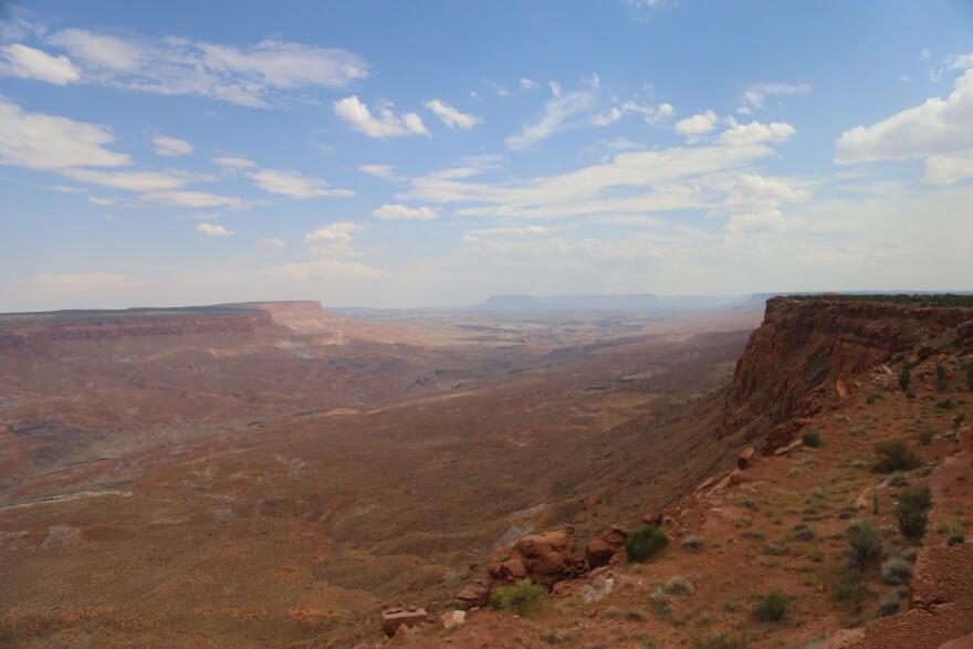 Photo of Lost Mesa from Paiute Mesa, near Navajo Mountain, Utah.