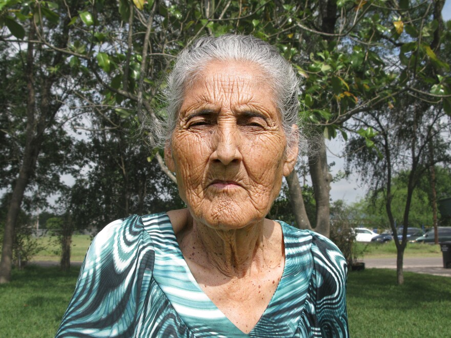 Aurora Gonzalez, 81, retired last year after working in fields for 60 years as a farm labor contractor.