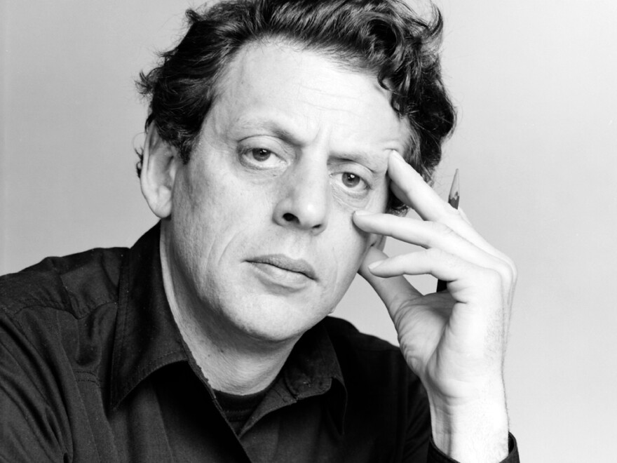 Philip Glass photographed in New York City in 1980.