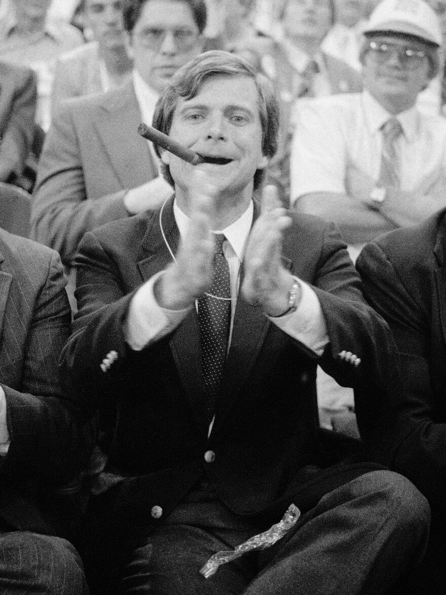 Lee Atwater, credited with making South Carolina a key Republican primary state and infamous for ruthless campaign tactics, is seen at the 1984 Republican National Convention in Dallas.