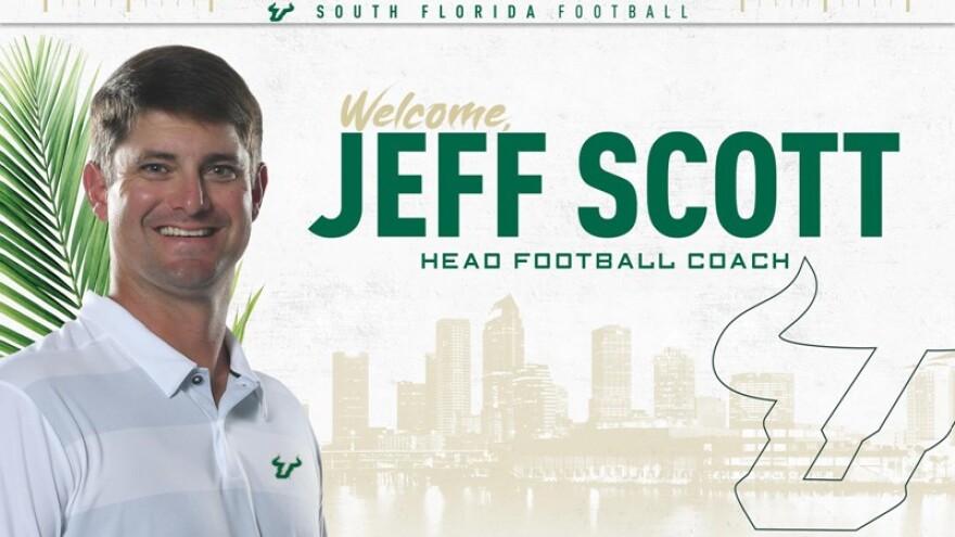 Jeff Scott welcome to USF