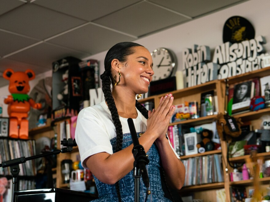 Alicia Keys performed her Tiny Desk concert on Feb. 2, 2020.