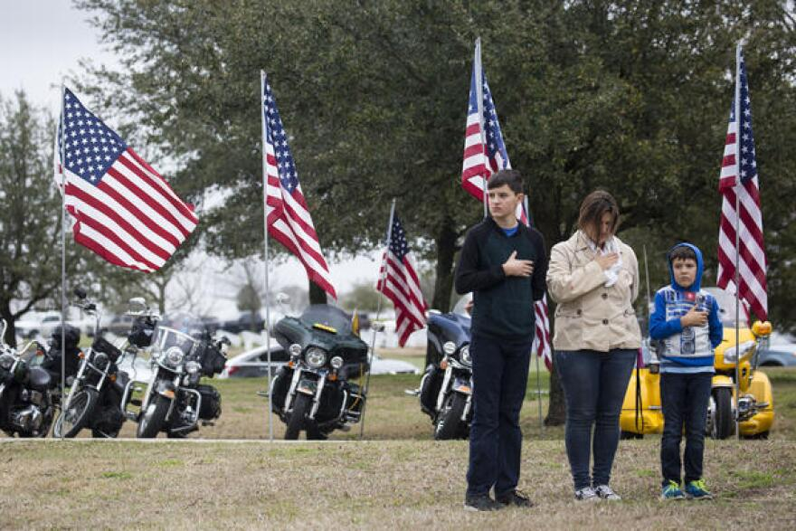 The Army veteran had no known next of kin so the public was invited to the funeral.