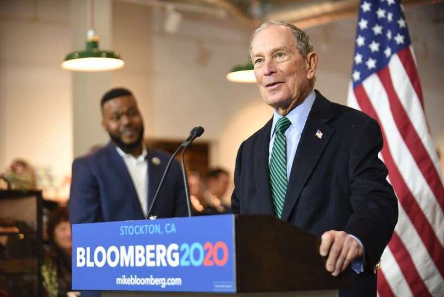 Mike Bloomberg addresses the crowd in California-he did not attend the event in Orlando. Photo: Flickr Creative Commons
