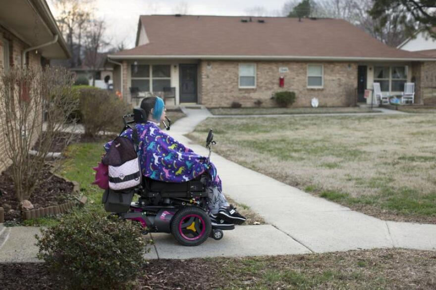 After a long struggle to find an home, Ananda Bennett opted for housing intended retirees and people with disabilities.