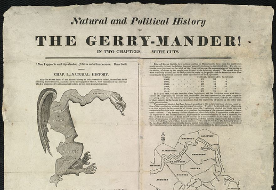 """This 1812 political cartoon in the Boston Gazette is considered to be the origin of the term """"gerrymander."""""""