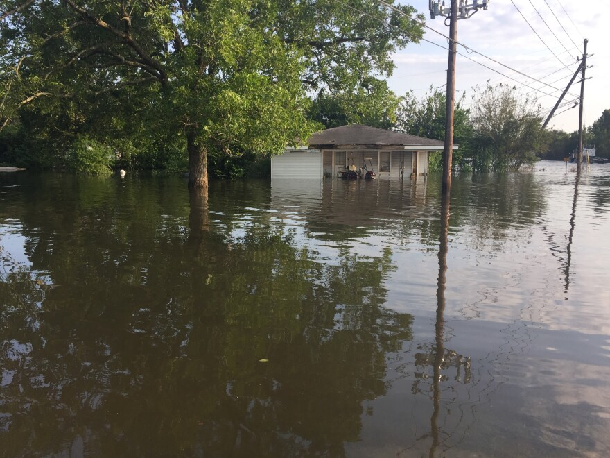 Orange County is among the rural areas in southeast Texas swamped by floodwaters from Tropical Storm Harvey.