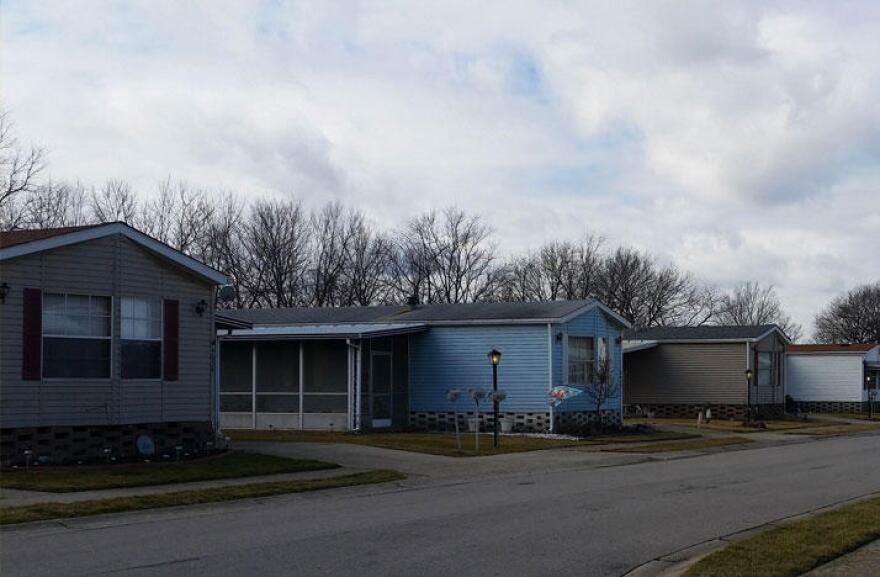 photo of mobile homes