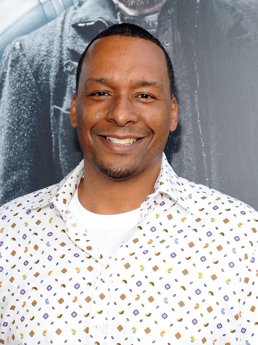 Filmmaker Deon Taylor, shown at the 2014 Los Angeles Film Festival, wrote his first screenplay in Germany, where he was working as a professional basketball player.
