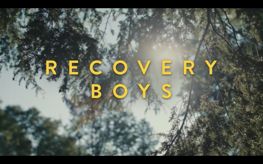 """Screenshot from the """"Recovery Boys"""" trailer."""