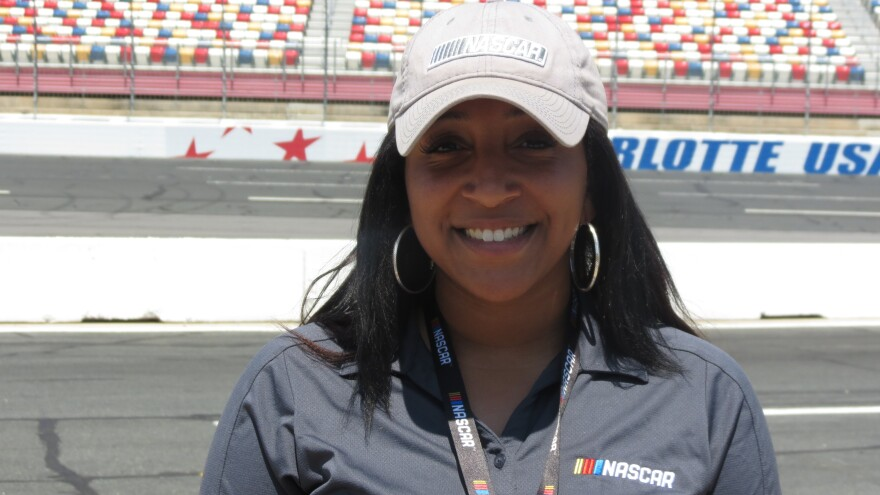 Johnson C. Smith graduate Dejah Gilliam now works for NASCAR after interning with the organization.