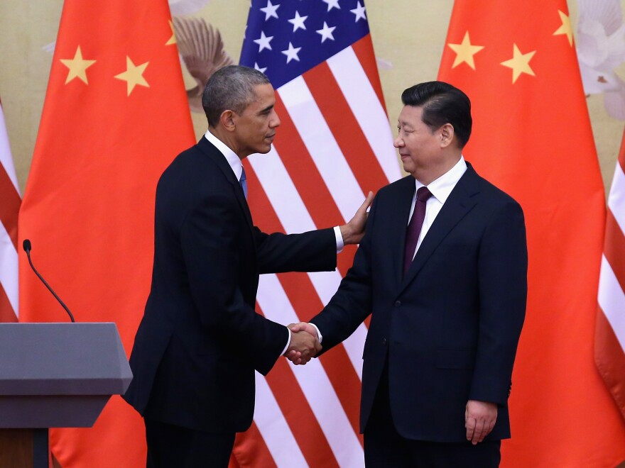 President Obama met with Chinese President Xi Jinping during a 2014 state visit to Beijing.