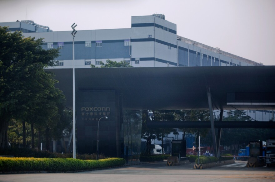 A Foxconn International Holdings Ltd, complex is pictured on November 2010 in Shenzhen, China.