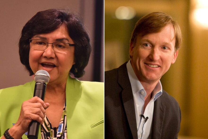 Lupe Valdez and Andrew White will debate Friday in the runoff for the Democratic nomination for Texas governor.