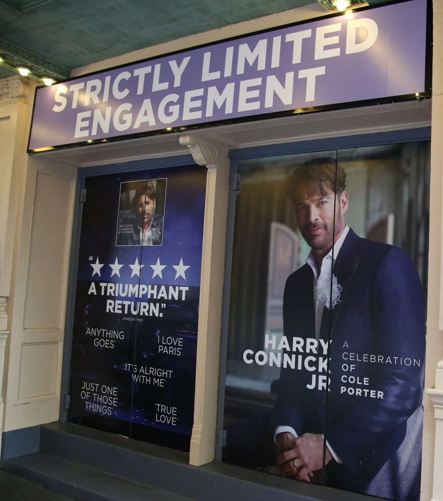 A marquee outside of the Nederlander Theatre, photographed on Nov. 25, 2019 in New York.