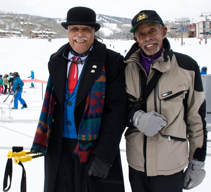 Art Clay, 78, of Chicago (left) and Ben Finley, 76, of Los Angeles (right) co-founded the National Brotherhood of Skiers 42 years ago.