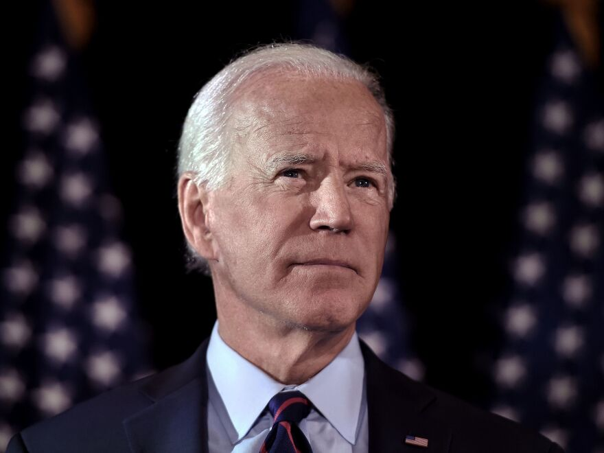 Democratic presidential candidate Joe Biden spoke about Ukraine and President Trump on Tuesday.