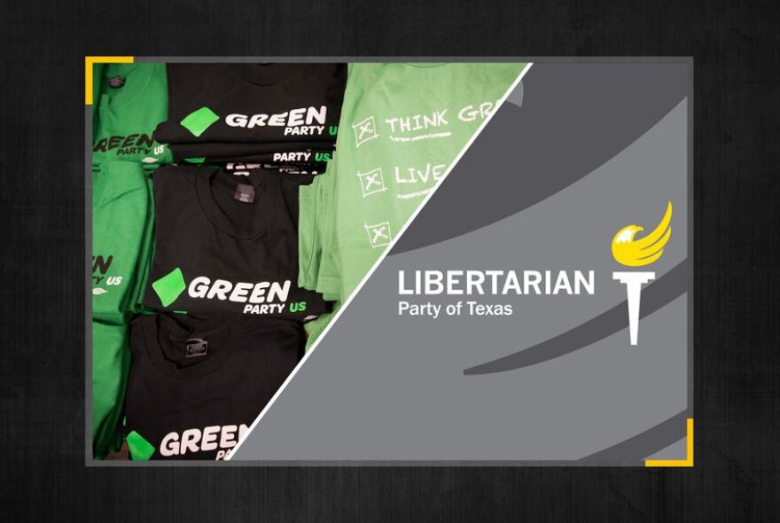 Green and Libertarian party illustration