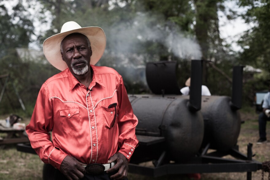 Singer and guitarist Robert Finley served as a helicopter serviceman in the Army in the '70s and worked as a carpenter for decades until he started to lose his sight a few years ago. (Courtesy Aaron Greenhood/Music Maker Relief Foundation)