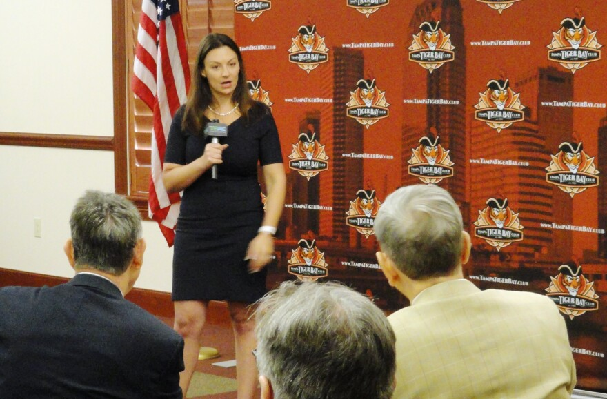 """During an appearance Friday with the Tampa Tiger Bay Club, Florida Agriculture Commissioner Nikki Fried said she takes """"very seriously"""" her role as the """"voice"""" of the Democratic Party."""