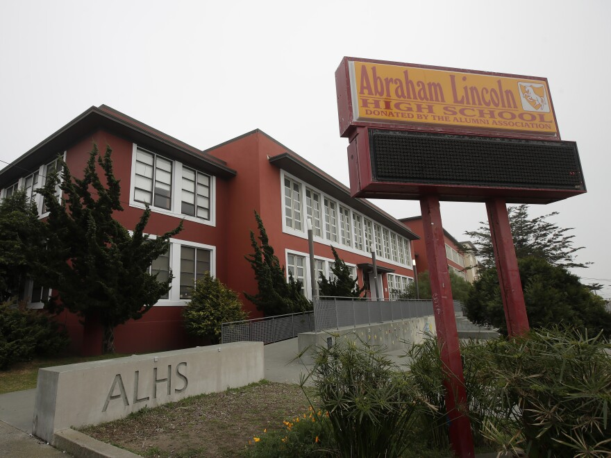 The San Francisco school board has voted to consider removing the names of George Washington and Abraham Lincoln from public schools, such as Abraham Lincoln High School.