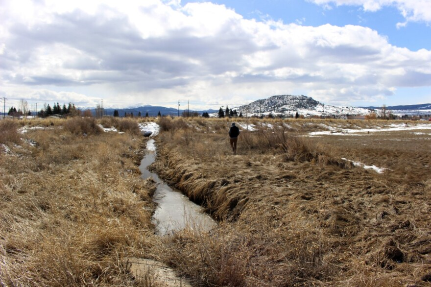 The historic Silver Bow Creek channel in Butte was an industrial sewer for over a century, and now conveys storm water seasonally.