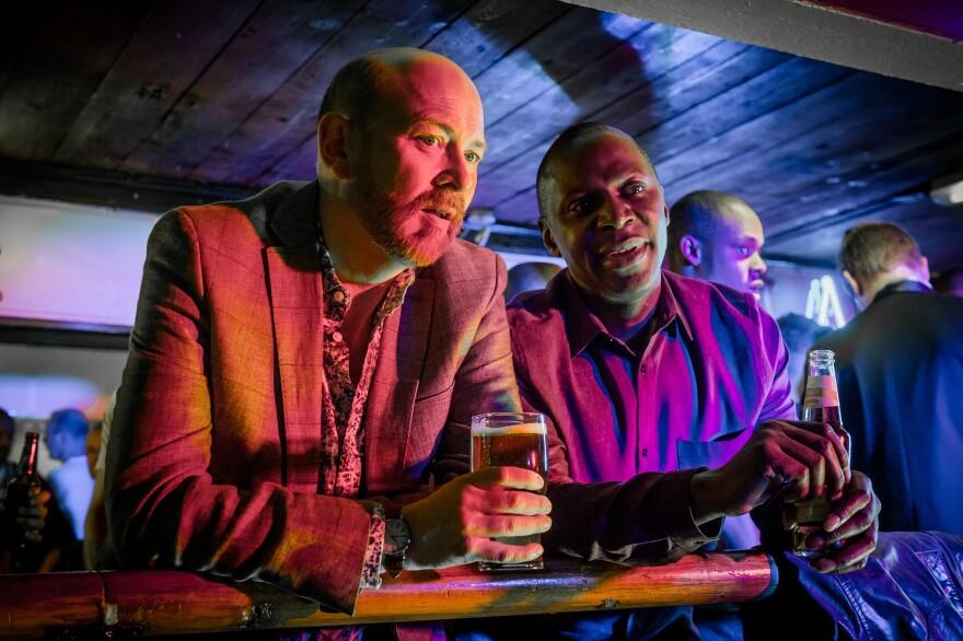 The new show from England, <em>Cucumber</em>,<em> </em>stars<em> </em>Vincent Franklin (left) as Henry and Cyril Nri as Lance. It premieres on Logo TV on April 13.