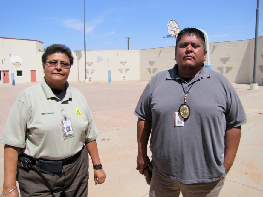 Sgt. Barbara Johnson and Corrections Lt. Robbin Preston run the Tuba City Juvenile Detention Center on the Navajo Nation.