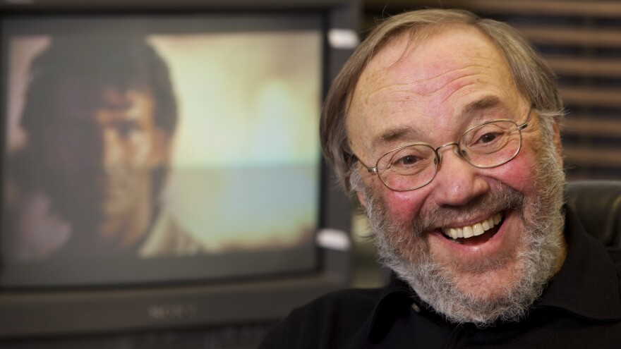 Chuck Workman at his editing station in Beverly Hills in 2010, the last year he created montages for the Oscars. Workman says montages today have a less highly edited style.