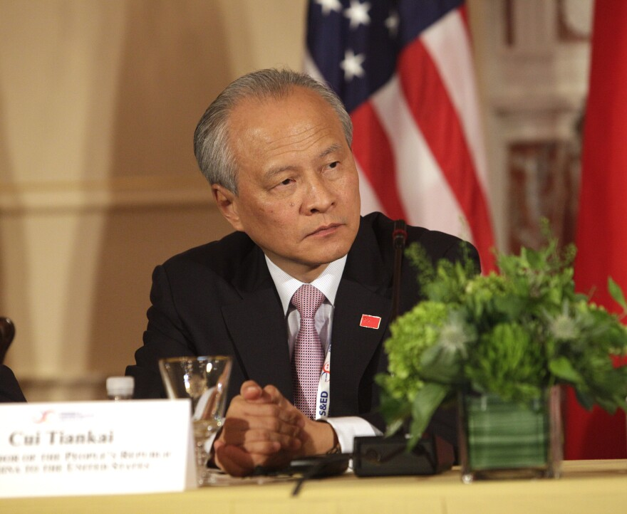Cui Tiankai, China's ambassador to the U.S., at the State Department in Washington, D.C., on June 24, 2015.