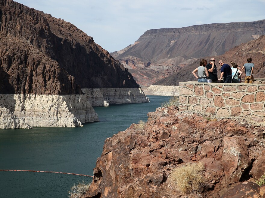 Lake Mead is at its lowest level since the construction of the Hoover Dam in the 1930s.