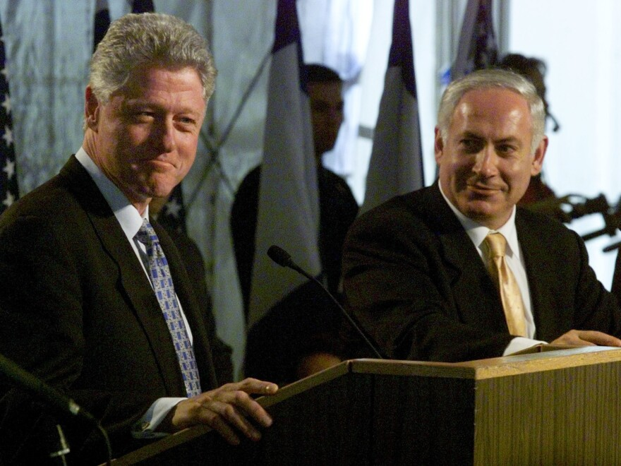 President Clinton faced questions about impeachment during a December 1998 press conference with Israeli Prime Minister Benjamin Netanyahu.